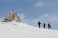 Ski Tour, Sextner Stein, Sexten, Hochpuster Valley, South Tyrol, Italy,