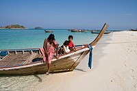 Sea Gypsies on Longtail Boat, Ko Lipe, Tarutao Marine National Park, Thailand