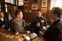 Men, Drinking, Hoppe, Proeflokaal, Men drinking beer, Hoppe Proeflokaal, bruin or brown cafe, Spui, Amsterdam, Holland, Netherlands