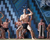 New Zealand, north island, Rotorua Arts Festival, dance and singing performance