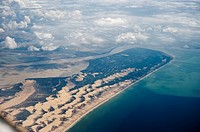 Aerial view of Doñana. Andalusia. Spain