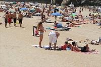 La Grande Plage Beach at Biarritz, France