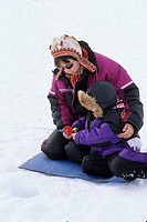 Norway, Finnmark, Kautokeino, Easter festival, Ice fishing