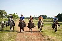 Peasants Pantaneiros, Gallop, Horse, Aquidauana, Mato Grosso do Sul, Brazil