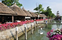 Restaurant on the water in the lagoon