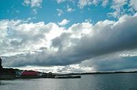 Houses, Colônia Britânica, Atlântico Ocean Sul, Malvinas Island, Falkland, Port Stanley