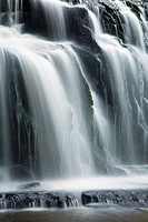 New Zealand, Southland, The Catlins  Abstract view of the Purakaunui Falls in the Catlins Forest Park