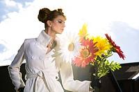 Woman flowers