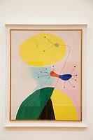 europe, switzerland, zurich, kunsthaus, art museum, portrait III, painting by joan miro, 1938