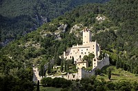 Castello di Sabbionara mediaeval castle at Avio in the Sud Tirol Alto Adige region of Italy