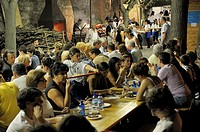 Montepulciano, Tuscany, Italy  Wild boar contrada district feast during the annual wine festival known as the Bravio delle Botti