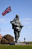 Statue of a Royal Marine outside the Royal Marine Museum at Portsmouth