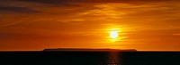 England, Devon, Lundy, Sunset over Lundy Island
