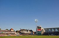 England, Nottinghamshire, West Bridgford, An international cricket match at Trent Bridge, home of Nottinghamshire County Cricket Club.