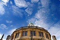 England, Oxfordshire, Oxford, An exterior view of the Sheldonian Theatre in Oxford.