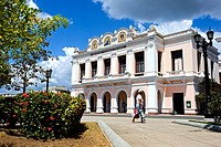 The Tomas Terry Theater on the Jose Marti plaza. Cienfuegos, Cuba