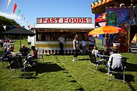 Scotland, City of Edinburgh, Edinburgh, A fast food trailer at a fun fair at Meadow Park in Edinburgh