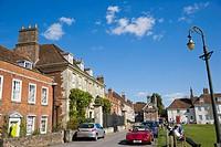 Choristers Square. Salisbury. Wiltshire. England. UK.