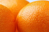 Close up of skin of oranges