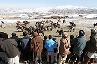 Bushkashi is a famous horsegame in Afghanistan