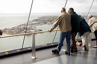 Inside the Spinnaker Tower. The tower, at a height of 170 metres 558 feet above sea level, is 2.5 times higher than Nelson´s Column, making it the tal...