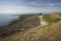 Wales, Swansea, Worms Head, Worms Head, a small tidal island on the Gower Peninsula