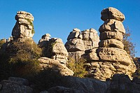malaga, spain, karstic rock formations in el torcal park nature reserve new antequera