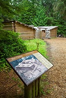USA, Oregon, Clatsop County, Lewis and Clark National Historical Park, Fort Clatsop replica