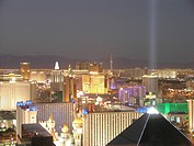 USA, Nevada, Las Vegas, The Strip, elevated view, night