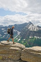 glacier national park, montana, united states of america, backpacking along the continental divide