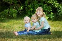three siblings