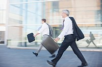 Businessmen walking outdoors