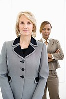 Businesswomen standing in office