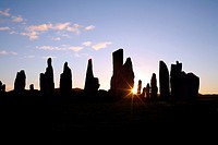 Calanais or Callanish Stone Circle, Isle of Lewis, Hebrides, Scotland