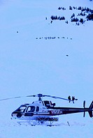 Trooper Helicopter Search for Avalanche Victims SC AK