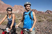 Mountain biker couple