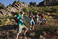 Hikers with map