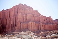 Rock formation in la rioja province in argentina
