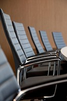 Chairs at conference table