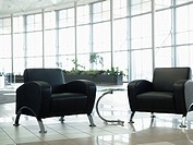 Chairs in office waiting area