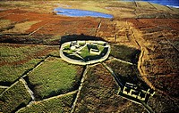Inishmurray island, County Sligo, Ireland  Early Celtic Christian ring fort cashel monastic settlement and fisherman's cottage