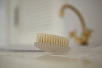 Body brush, close up, differential focus