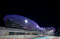 Yas Hotel, at the F1 racetrack on Yas Island, Abu Dhabi, United Arab Emirates