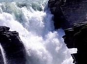 Athabasca Fall, close up, Alberta, Canada