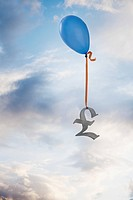 Balloon tied to a British pound symbol