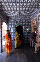 Decorative Passage, City Palace, Udaipur, Rajasthan, India