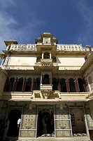 Exteriors of City Palace, Udaipur, Rajasthan, India
