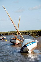 Traditional Sailing Boats Moored at Blakeney Quay