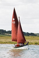 Sailing at Blakeney Harbour, Norfolk, England