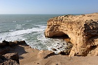 cliffs around Tamri on Atlantic Coast, between Agadir and Essaouira,Morocco,North Africa